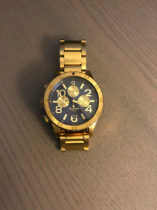 Nixon 48-20 Gold/Blue Chronograph Watch