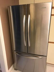 French-door stainless steel fridge
