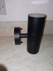 Modern Black Double Up Down Outdoor Stainless Steel Wall Light