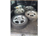 Wolf race alloy wheels x 4 dotz Imola with 195/50 15 tyres £120