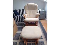 Mamas & papas dutalier nursing chair & footstool