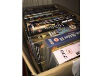 Job lot DVDs and VHS tapes