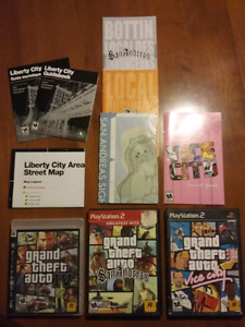 Au choix : Grand theft auto IV, GTA San Andreas et GTA Vice city
