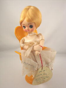 Collectable Vintage 1960's Cloth Doll Musical Chair Senpo