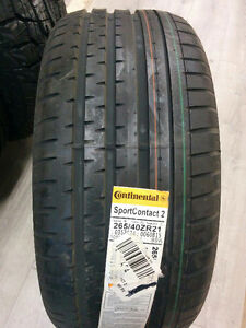Brand New P265/40R21 CONTINENTAL SPORT CONTACT 2 SUMMER TIRES
