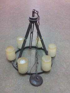 Chandelier, Antique, Hanging Lamp, Dining, Hall, Wrought Iron