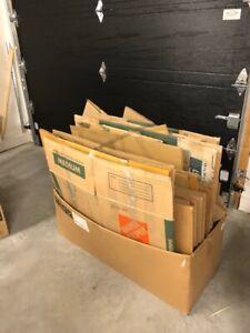 Lot de boites de carton