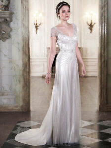 Maggie Sottero Ettia Wedding dress, ivory/champagne size 10