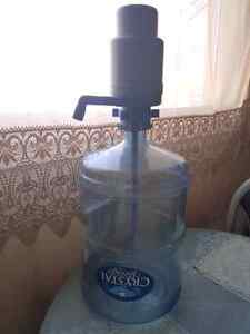 Water bottle with pump