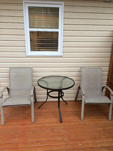 Patio Furniture (4 chairs and a small table)