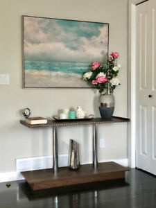 Brown Console Table (metal/wood)