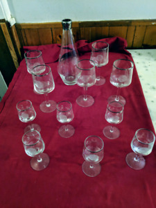 12 pieces of Princess House crystal