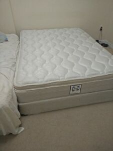 Sealy Valetta Queen size Mattress, Box Spring and metal frame