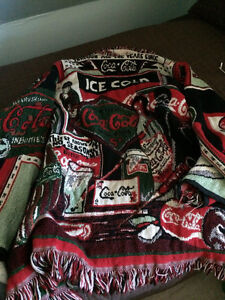 Unisex Coca Cola Afghan Coat Size L/XL