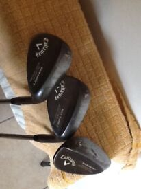 Callaway mack daddy 2 wedges 50,54,58.