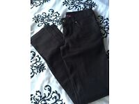 Brown skinny jeans size 6