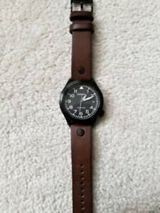 Fossil leather strap men's watch - New Battery included