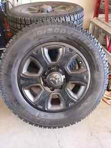 Ram 3500 black rims and cooper discover tires