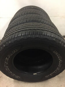 4 tires 2016 Goodyear Wrangler Fortitude 265/70r17