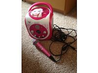 Barbie CD player with microphone