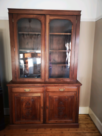 French Solid Mahogany Dresser Cabinet