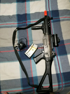 Air soft rifle toy. Full auto