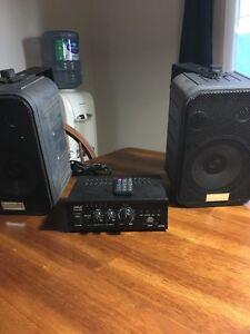Mini ampli 2X75 watts avec prise usb et fente pour carte sd