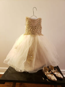 Formal baby girls dresses with matching shoes..