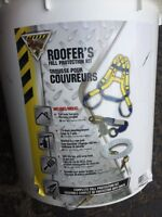 Harness and fall protection kit