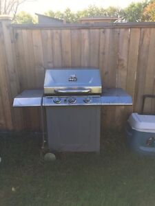Stainless Steel Natural Gas BBQ - needs new grill but works well