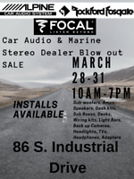 Car Audio & Marine Stereo Equipment BLOW OUT SALE