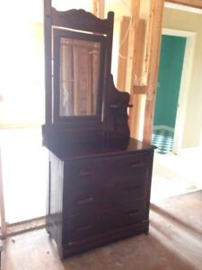 Antique Dresser on Casters with Candle shelf