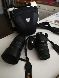Nikon D5200 Bundle!! (Camera, 18-50mm lens, 70-300mm lens + Bag)