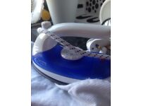 Travel iron and hairdryer