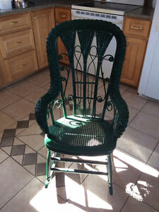 GENUINE WICKER ROCKING CHAIR