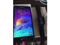 Apple Watch 38mm Sport Grey + Samsung Galaxy Note 4