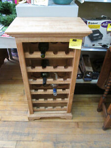 Hand Crafted Curly Maple Wine Rack For Sale At Nearly New