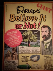 Vintage *FIRST PRINTING* Ripley's Believe It Or Not GIANT Book
