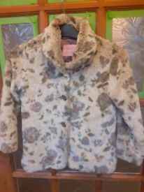 Girl's faux fur coat age 6 years