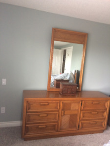 SOLID OAK BEDROOM DRESSER