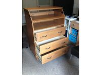 IKEA Diktad baby changing table with built in chest of drawers