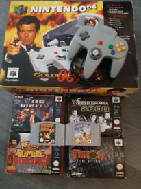 Nintendo 64 Goldeneye console boxed