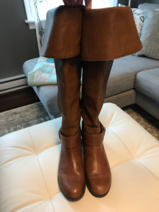 ALDO over-the-knee cognac brown boots - Size 6.5 - Like New!