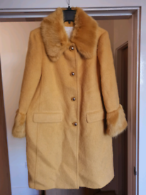 Kate Spade New York Fluffy Wool Faux Fur Coat (Size 14-16)
