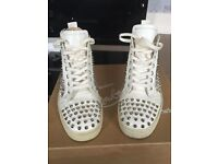 WHITE CHRISTIAN LOUBOUTIN TRAINERS SIZE 7