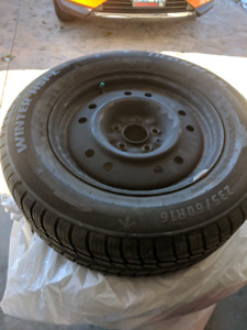 Winter Tires and rims (235/60R16) for sale