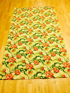 2 48 by 84 floral curtains in great shape-does not include rod