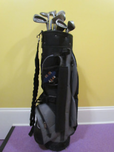 Little used full size golf bag - and complete set of clubs
