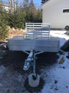 "All aluminum 63"" x 8' utility trailer"