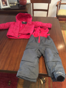 Girls Columbia Snow Suit Size 3T Toddler